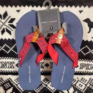 Tommy Hilfiger Womens Flip Flops size 7, Nwt